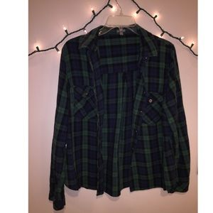 Plaid Pocketed Flannel Super Trendy